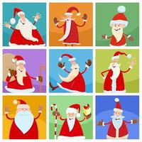 holiday design with happy Christmas characters vector
