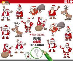 juego único para niños con personajes navideños vector