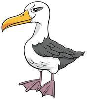 albatross bird animal character cartoon illustration vector