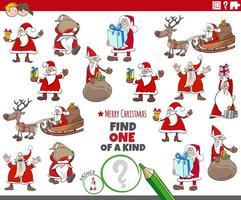 tarea única para niños con personajes navideños vector