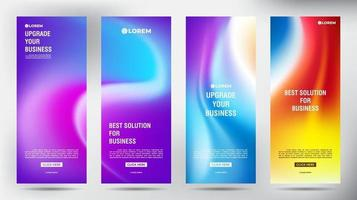 conjunto de variación borrosa enrollar pancartas de volante de folleto comercial