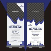 Roll up banner design template vector