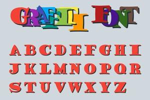 Graffiti font number one vector