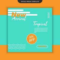 Social media template new arrival vector