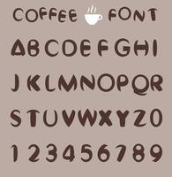 Coffee font for cafe