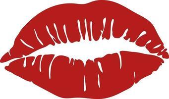 Female lips stamp