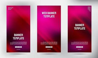Set of Pin Neon roll up business brochure flyer banners vector