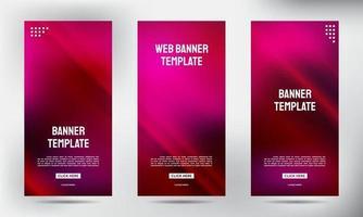conjunto de banners de volante de folleto de negocios enrollable de neón pin
