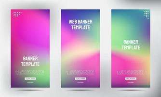 Set of blurred roll up business brochure flyer banners vector