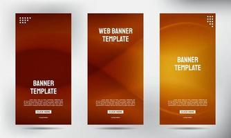 conjunto de pancartas de folletos comerciales enrollables de color de malla marrón simple