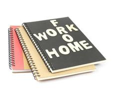 Work from home notebook photo