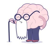 edad, colección de cerebro vector
