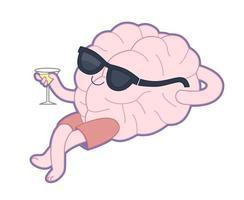 relajante con una copa de vermú, colección cerebro vector