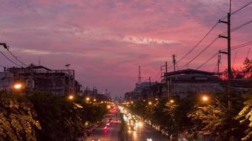 verkeer op lat ya road, bangkok