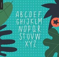 Vector uppercase alphabet