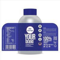 diseño de etiqueta de botella, plantilla de diseño de empaque vector