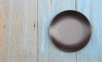Round black plate photo