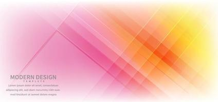 Banner design geometric colorful overlapping with background.