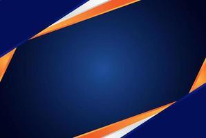 Abstract blue and orange modern dark background vector