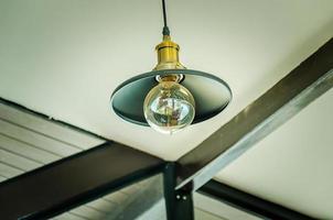 Hanging vintage lamp photo