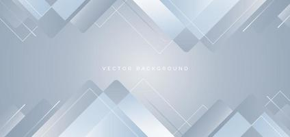 Abstract background geometric white and gray overlapping style modern design. vector