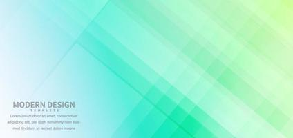 Banner design geometric green color overlapping with background.