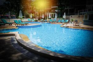 Hotel pool with vignette