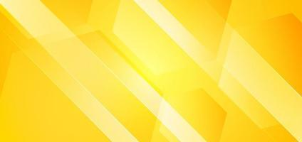 Abstract geometric hexagons yellow background with diagonal striped lines. vector