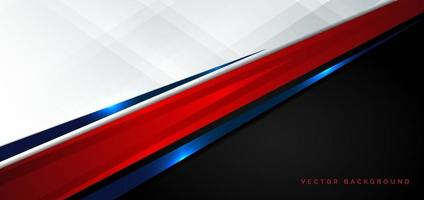 Template corporate concept red black blue and white contrast background.