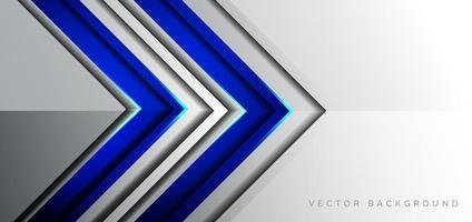 Abstract template dark blue arrow overlap with blue light modern technology style on grey background. vector