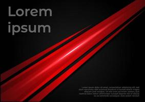Template corporate concept red contrast background with light effect.