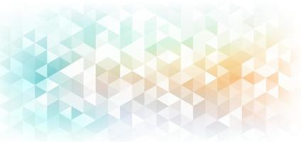 Abstract banner web geometric hexagon pattern light blue orange background with space for your text. vector
