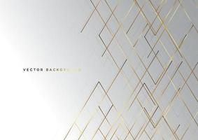 Abstract striped lines gold color on grey background. Luxury style. vector