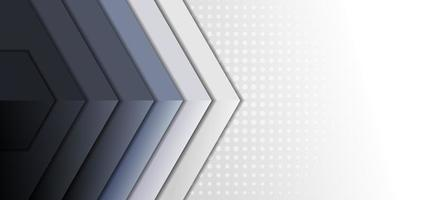 Abstract template grey tone triangle geometric overlap layer on white background. vector