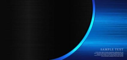 Background blue metal with space for text and message template design. vector