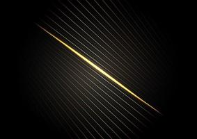 Abstract stripes golden lines diagonal overlap on black background. Luxury style. vector