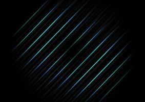 Abstract template diagonal black striped line background texture with blue light neon. Technology concept. vector