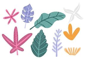 Colorful flowers and leaves, forest texture vector