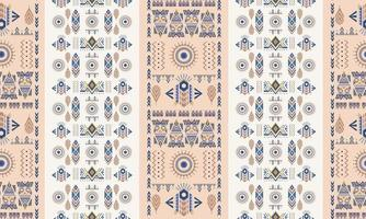 Ethnic and tribal motifs ornamental pattern. Pastel colorful print for textiles. vector