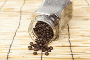 Bottle of coffee beans photo