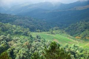 Agricultural area in the mountains photo