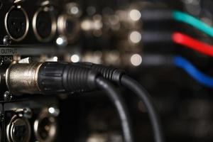 Audio XLR cables in a recorder