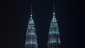 Kuala Lumpur, Malaysia, 2020 - Illuminated Petronas Twin Towers photo