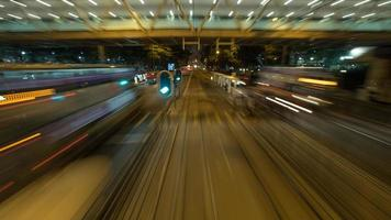 Long-exposure of moving trains photo