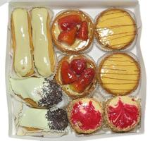 Top view of pastries