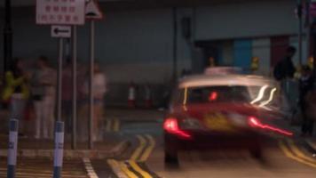 Taxi long-exposure abstarct photo