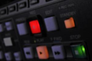 botones de recodificación desenfocados