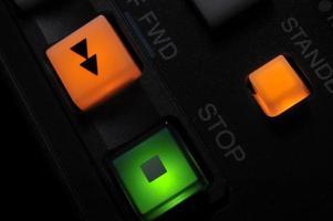 primer plano de los botones de grabación foto