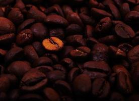 Dark coffee beans photo