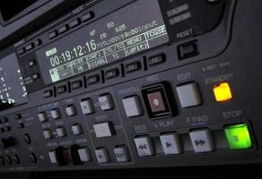 Close-up of recording machine